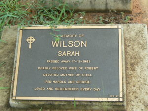 Sarah Wilson's resting place