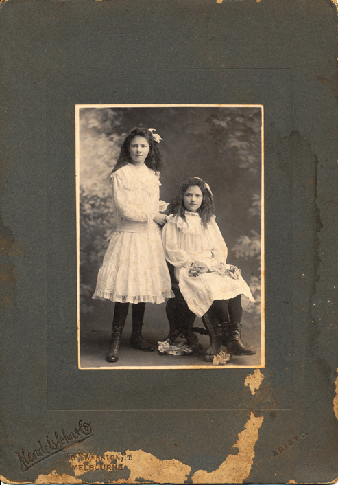Two young girls, Melbourne VIC